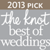 2013 Pick - The Knot best of weddings